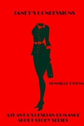 Janet's Confessions a woman in a skirt business suit with a briefcase and heels